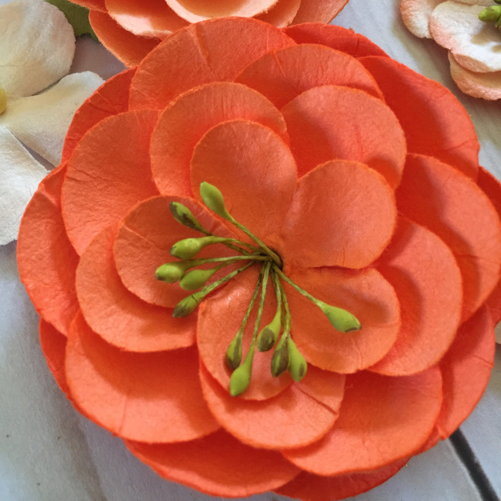 Coral paper flowers and heart pics 11 pcs glittered hippie coral paper flowers and heart pics 11 pcs mightylinksfo
