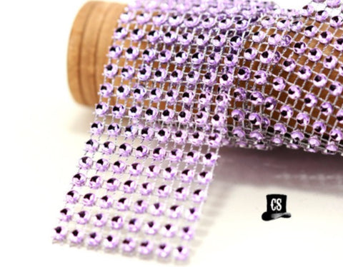 "Lavender Diamond Mesh Ribbon 8 Row 1.5"" Wide - 3 Yards"