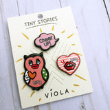 Flair Pins :: Owl, Kiss Heart, Cheer UP!