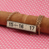 Ruler Necklace ~ Gold and Ivory