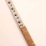 Chain and Studded Wrap Bracelet ~ Silver and Gold
