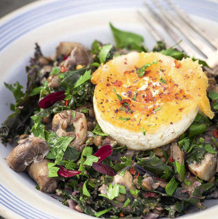 Sarah Raven's mushroom pilaf with goats' cheese and Mara Seaweed