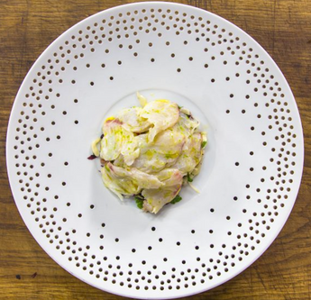 James Martin's Kimchi with Seaweed and Seabass Ceviche