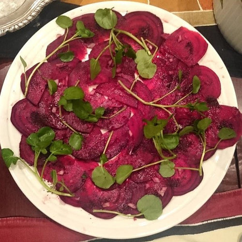 Seasonal Beetroot Carpaccio with Applewood Smoked Dulse