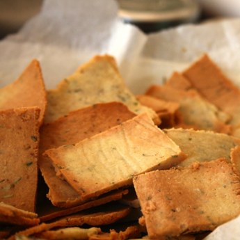 Almond Canape Crackers with Shony®Seaweed
