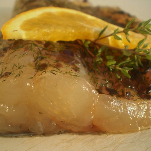 Mild Cured Pike Perch with Mara Seaweed