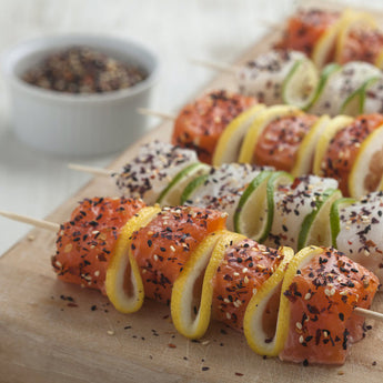 Fish Skewers with Furikake and Citrus