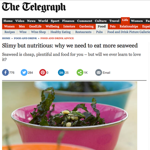 Seaweed in The Telegraph