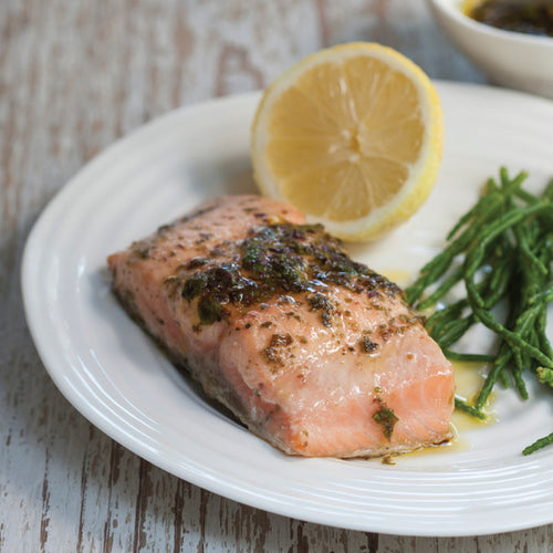 Baked Salmon Fillets with Shony Seaweed
