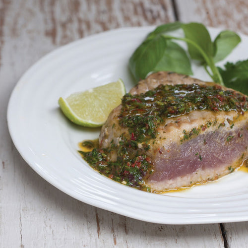 Marinated Tuna Steak with Dulse Seaweed