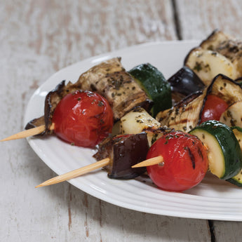 Halloumi and Roast Veg Skewers with Kombu