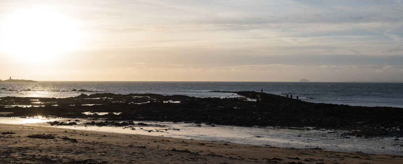 Elie beach, Fife, at sunrise