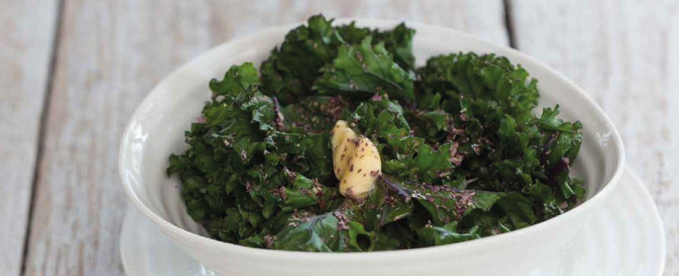Mara Seaweed Dulse on roasted kale