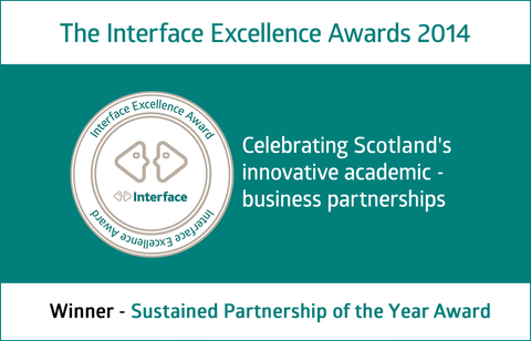 Interface Excellence Award winner certificate for sustainable partnership