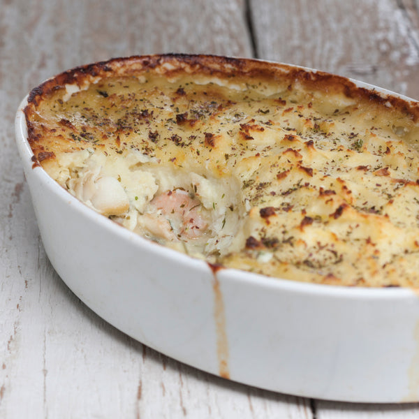 Classic fish pie is enhanced by kombu