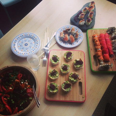 Mara's homemade sushi for Mother of the Sea Festival