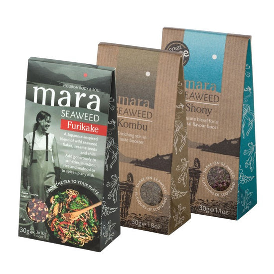 Seaweed Flakes and Furikake - selection of pouches