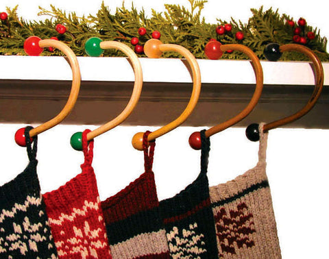 ASH Hardwood Sock Hooks®--simply the best stocking hanger on the market! Available in 5 styles....