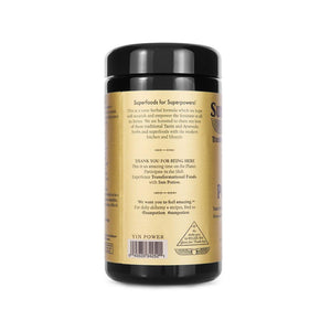 Sun Potion Yin Power Blend Label