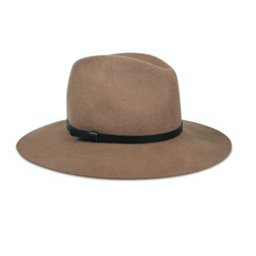 Hat Attack Madison Hat - Taupe with Leather Band