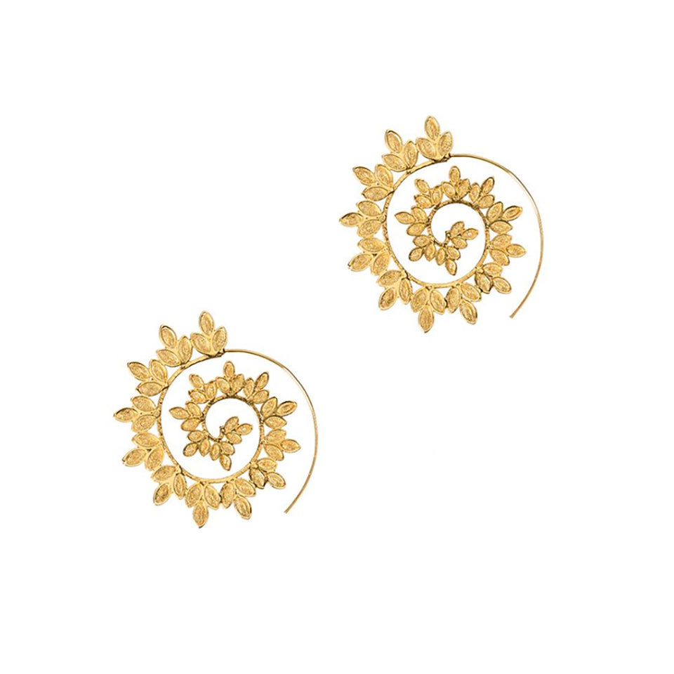 Amy Gattas Coiled Flower Earrings - Gold