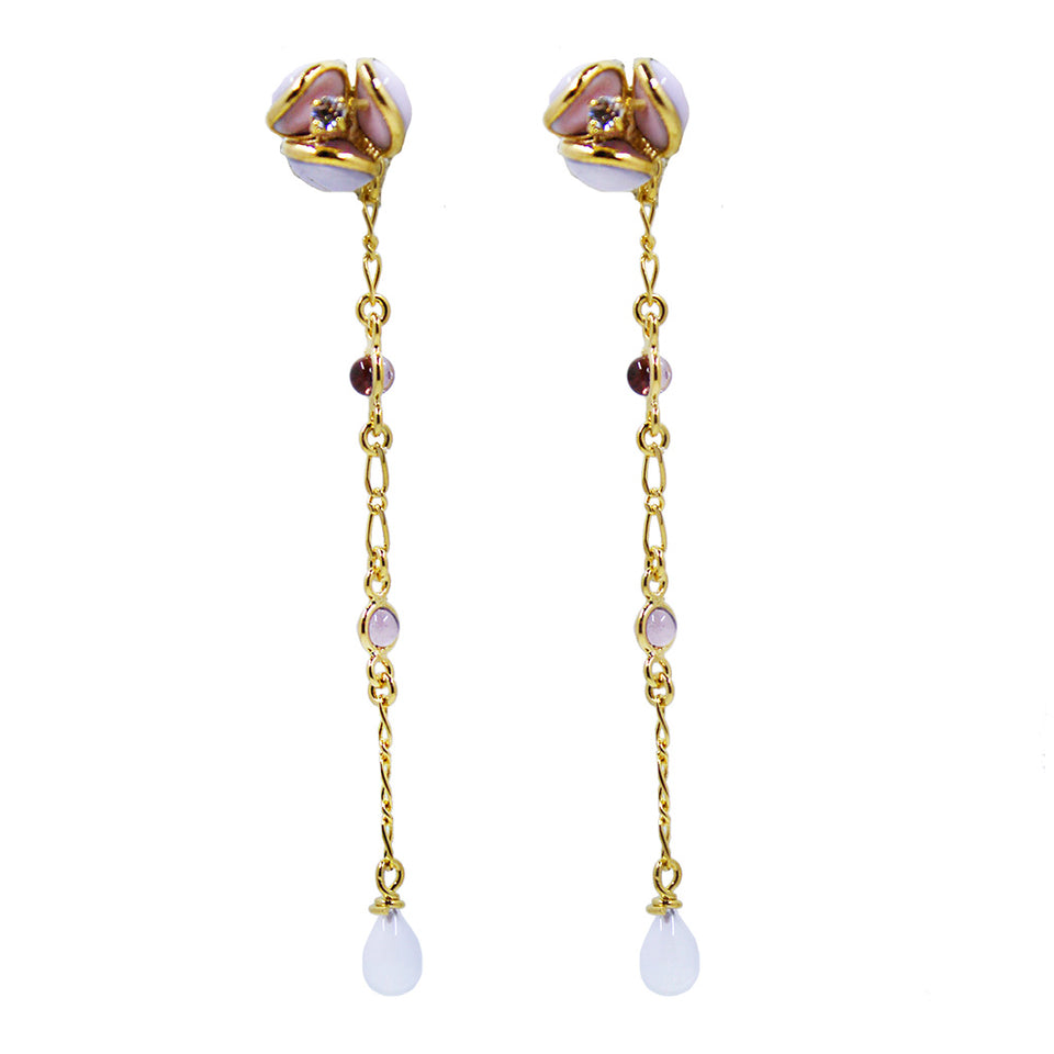 Augustine Aubepine Earrings - Rose