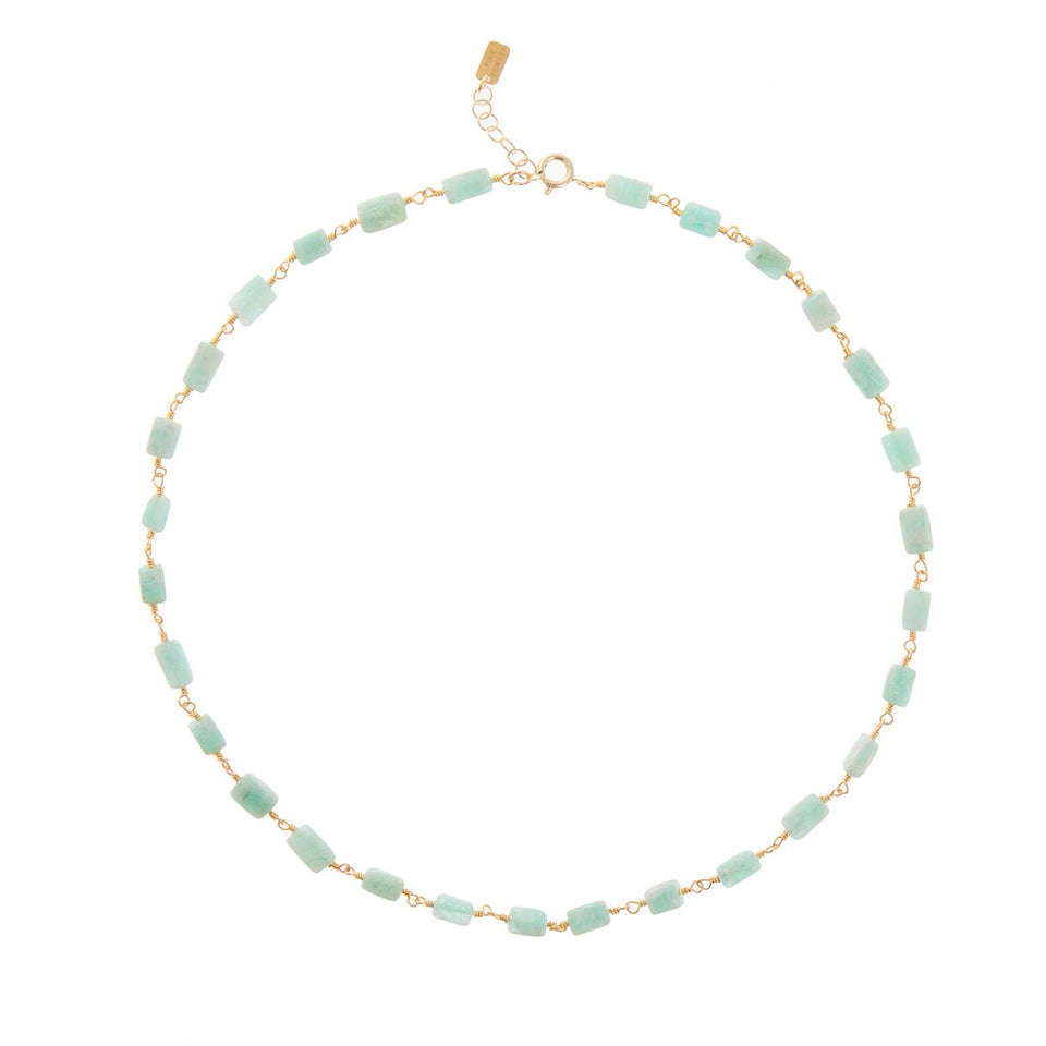 Pink Powder Necklace - Amazonite