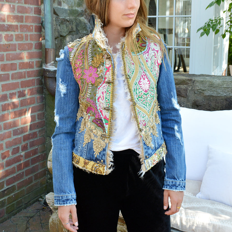 Dassios B127 Denim Brocade Jacket