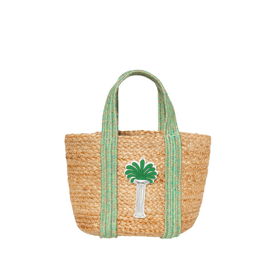 Koku Fedra Mini Straw Bag - Palm Tree