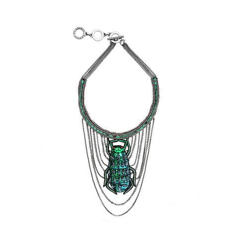 Forest of Chintz Swinging Scarb Necklace