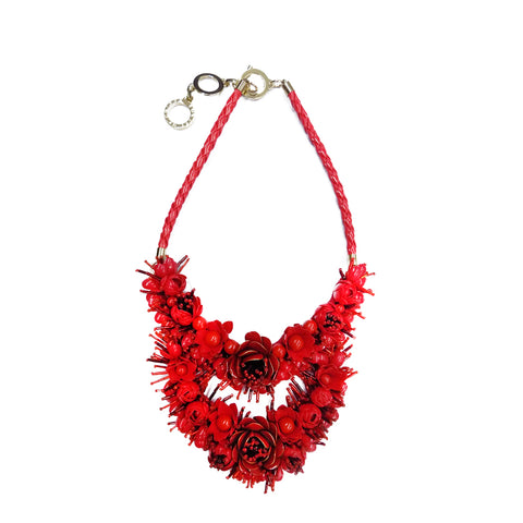 Forest of Chintz Jasmine Necklace - Red