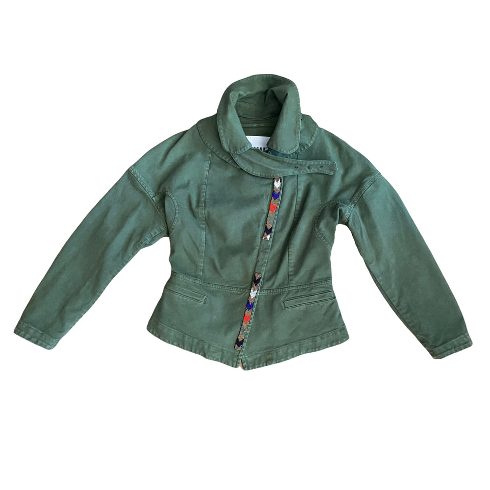 Bazar Deluxe Green Short Military Jacket
