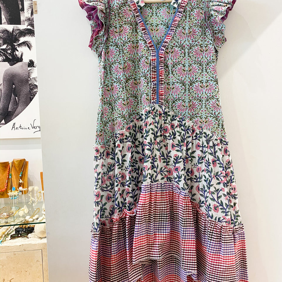 Joey Wolffer Reworked Dress - Blue / Pink Floral