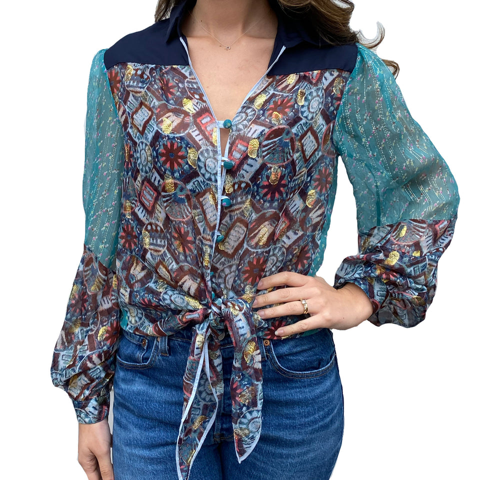Joey Wölffer Reworked Blouse - Blue Bazar