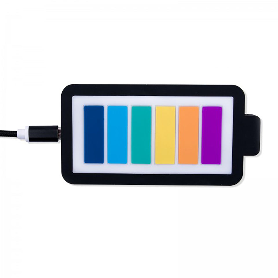 IPhoria Wireless Charger - Rainbow Battery Bar