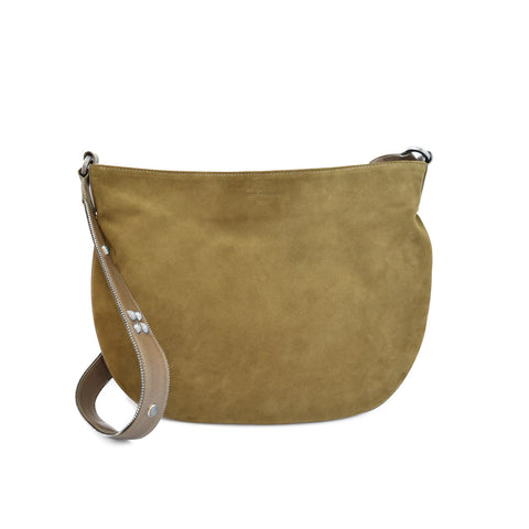 Joey Wölffer Flat Saddle Bag - Green Tobacco