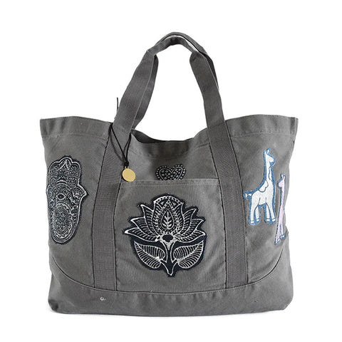 Joey Wölffer x Mavroleon Patch Tote - Grey
