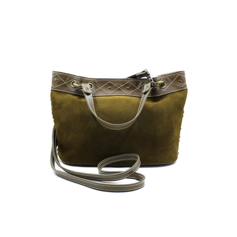 Joey Wölffer Mini Tote - Green Tobacco