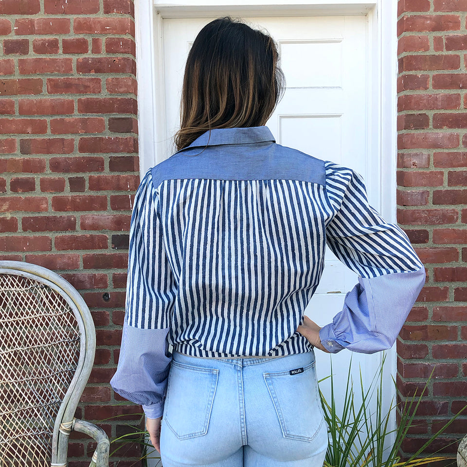 Joey Wölffer Reworked Blouse - Blue Check