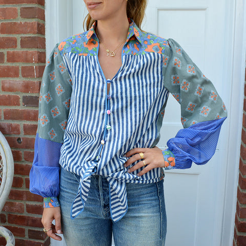 Joey Wölffer Reworked Blouse - The Blues and Greys