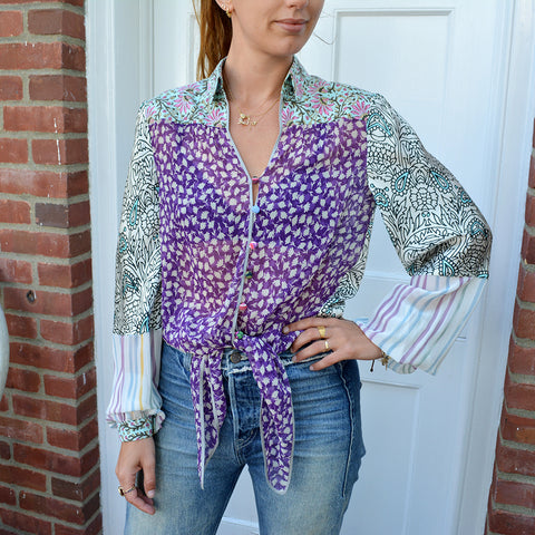 Joey Wölffer Reworked Blouse - The Purple Blues