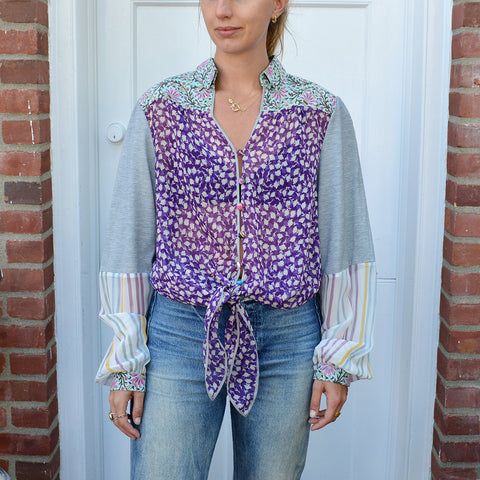 Joey Wölffer Reworked Blouse - The Purple Greys
