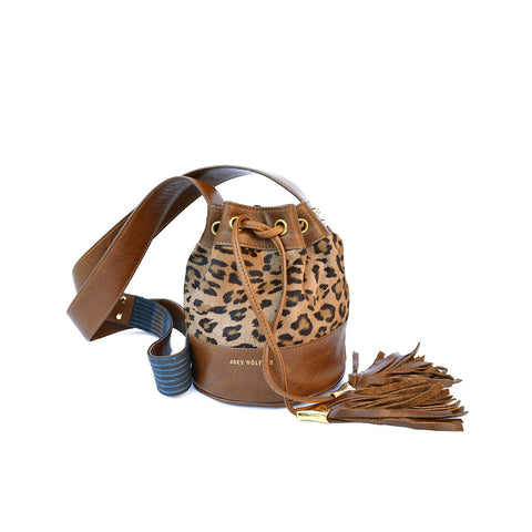 Joey Wölffer Mini Bucket Bag - Leopard