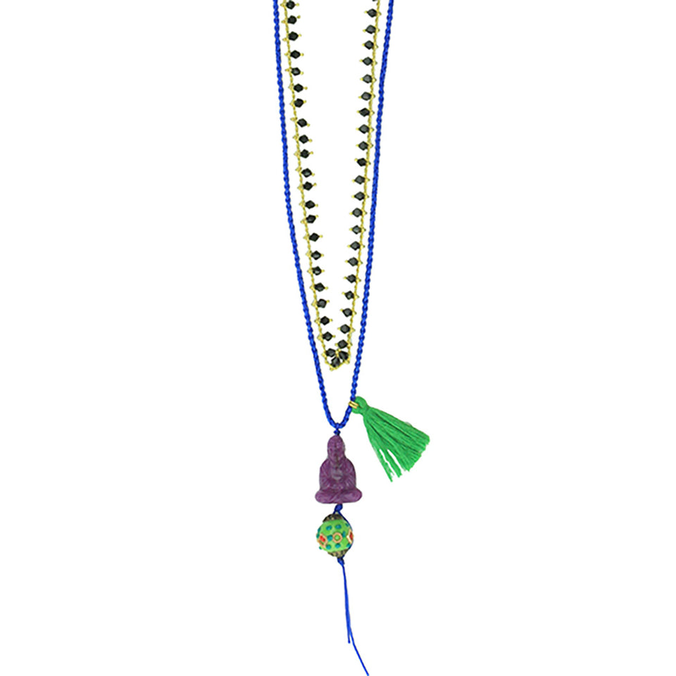 Katerina Psoma Buddha Necklace - Blue