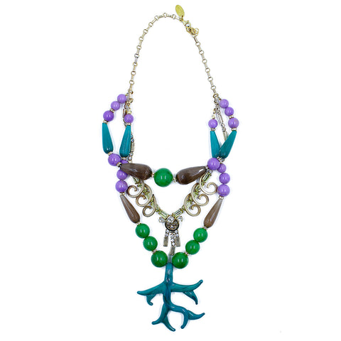 Katerina Psoma Vinatge Murano Necklace - Purple