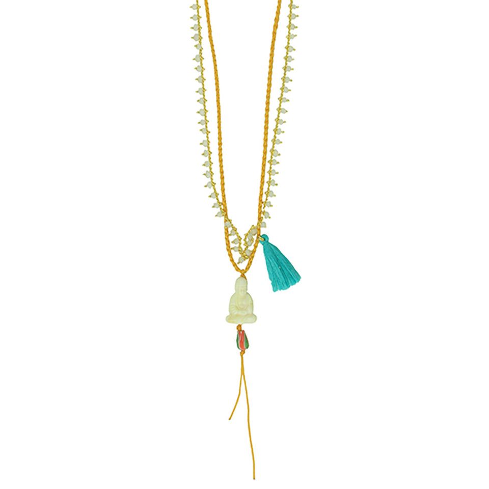 Katerina Psoma Buddha Necklace - Yellow