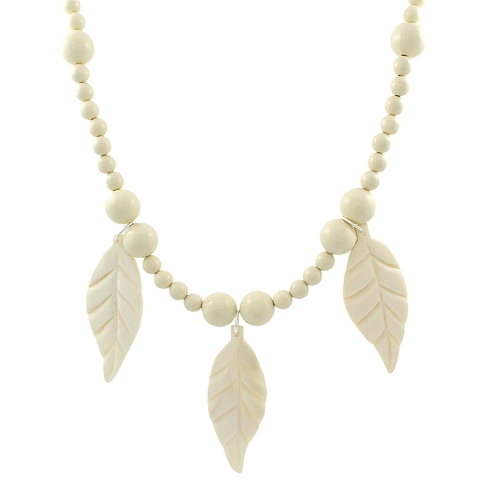 Lokal Leaves and Dots Necklace - Ivory