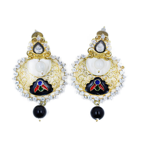 One of a Kind Indian Crystal Earrings