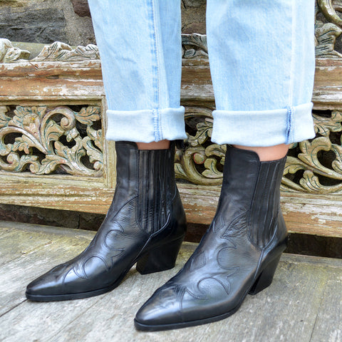 Maurizi Rodeo Boots - Black