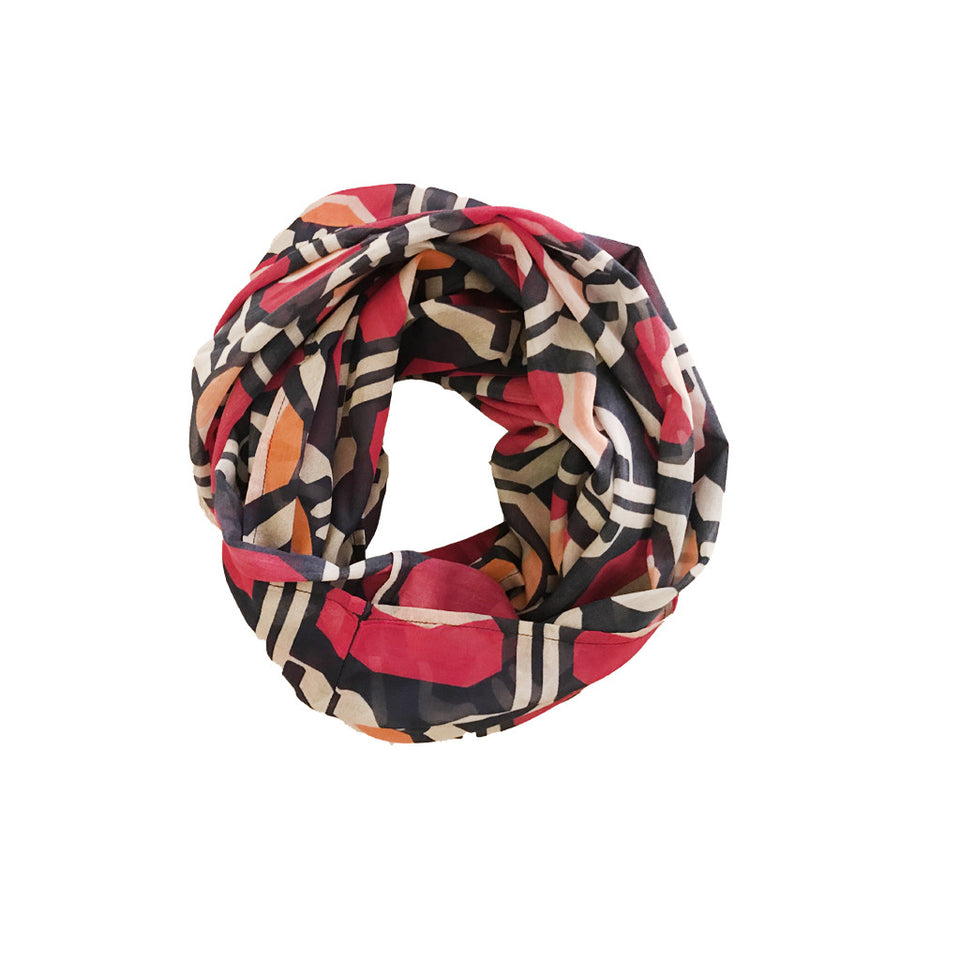 Meilleure Ami Scarf - Pink Shapes